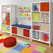 Kids room shelving