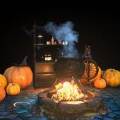 "Halloween decor set (max, ue4, unity) ""на конкурс"""
