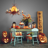 HALLOWEEN DECORATIVE SET