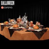 На конкурс сервировка стола в  стиле Halloween