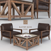 Leather Armchair and Coffee Table (for PRO status)