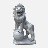 Lion with a ball