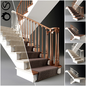 Classical staircase with carpet _ 2011 _ corona _ v-ray
