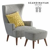 armchair Scandinavian Designs Katja High Back