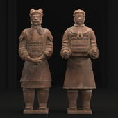 Sculpture of soldiers of the terracotta army
