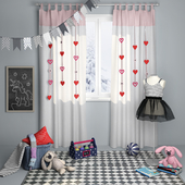 Decorative set for children's room girls