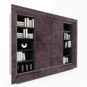 Contemporary Quilted Nubuck Italian TV Cabinet
