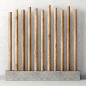 Decor of wooden sticks / Декор из деревянных палок