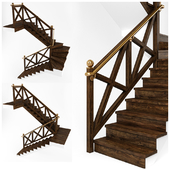 Stairs for interiors in chalet style