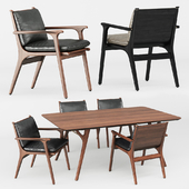 REN DINING ARMCHAIR and TABLE