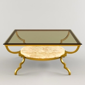 La Barge Gilded Iron Cocktail Table