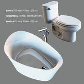Bathroom fittings set