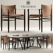 Table and chairs Trussardi Casa Saddle Chair