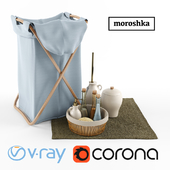 Laundry basket and accessories