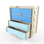 "Chest of drawers with drawers ""Buko"""