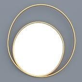 Decorative double oval mirror