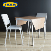 Folding table and chair IKEA PS 2012 / Theodorez