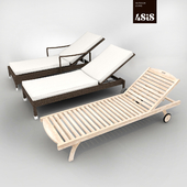 A set of sun loungers from 4sis - Pisa, Parma, Pavia