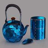 Japanese tea set forged copper