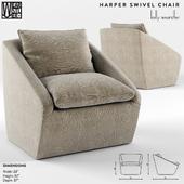 Harper Swivel Chair by Kelly Wearstler