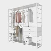 Открытая система хранения ИКЕА Элварли с одеждой