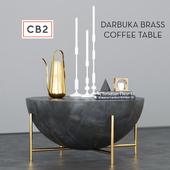 CB2 Darbuka brass coffee table