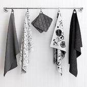 Zara Grey Towels on Hooks