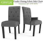 Confer Dining Fabric Side and Arm Chair