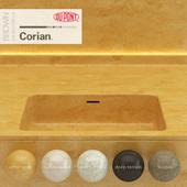 Dupont Corian Kitchen Countertops Brown 4