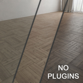 Wooden parquet (without the use of plug-ins)