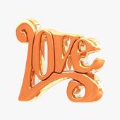 Deko Objekt LOVE Gold