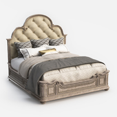 Hooker Furniture King Upholstered Panel Bed