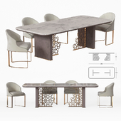 Longhi Excelsior Table and Daphne chair