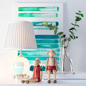 Лампа Eichholtz Octavia, картины Jan Ombre и декор