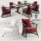Visionnaire Ipe Cavalli Dining Set