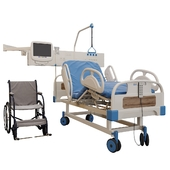 Medical bed and Wheelchair