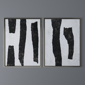 Set of abstract paintings 38