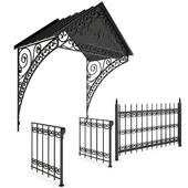 Visor and fencing made of forging