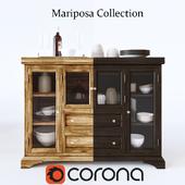 MARIPOSA FLIP TOP SERVER WITH GLASS DOORS BY AAMERICA