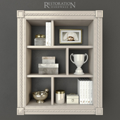RH Hand-Carved Display Shelf