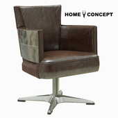 Home Concept Swinderby Swivel Chair Spitfire