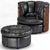 Isle D'Palm Arm Chair, Ottoman
