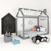 Кровать-домик с набором аксессуаров для детской