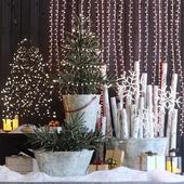 Рождественский декор: Входная группа 1