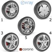 Set of 5 wheels