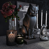 Decorative set of the firm Eichholtz, the set includes: