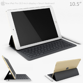 Apple iPad Pro 10.5 Inch with smart keyboard