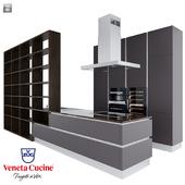 Kitchen set Ri-Flex from Veneta Cicine and technique V-ZUG.