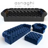 Asnaghi Magnum sofa & armchair & pouf