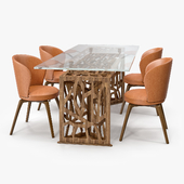 Mascheroni Delta Table and Alloro Chair